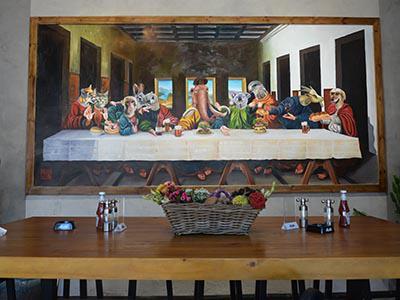 合肥蜀山区1912街区猛犸象美式西餐厅壁画