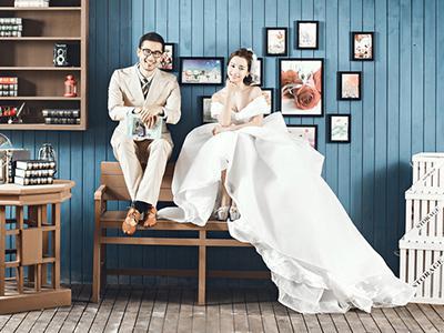徐州市泉山区罗门婚纱摄影片场实景做旧二期