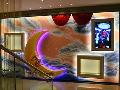 北京市崇文门Milo star KTV壁画《月亮》